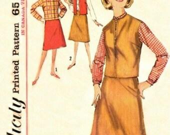 Simplicity 5100 Boxy Blouse, Skirt & Jacket 1960's / SZ18 UNCUT