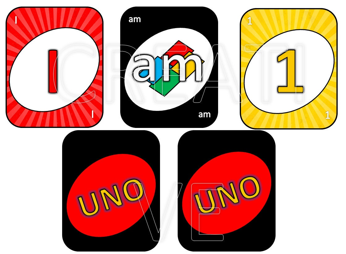 printable uno card cards traditional colors