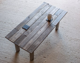 Reclaimed Wood Coffee Table. Hand Made Rustic  Design