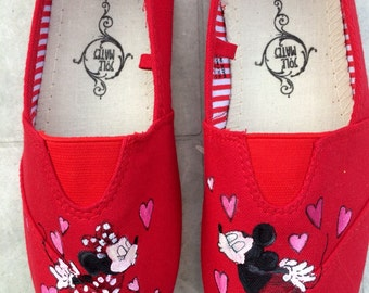 Mickey and Minnie Mouse TOMS and off brand shoes