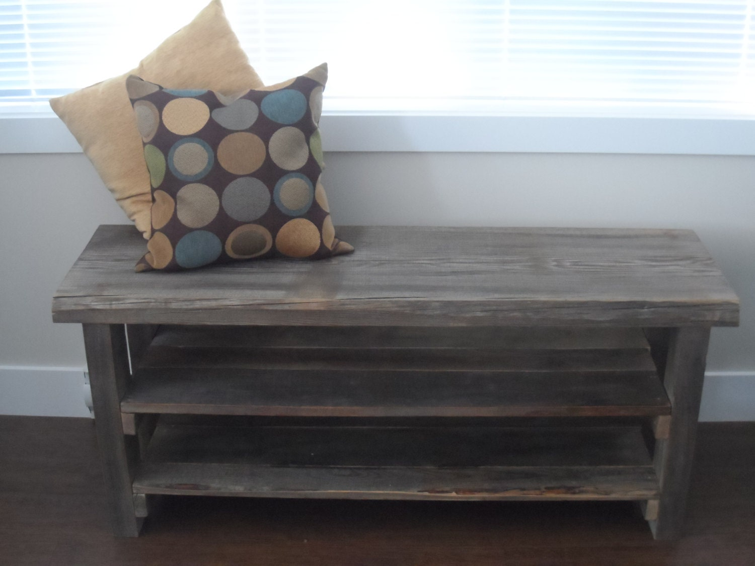 Reclaimed wood shoe rack Rustic shoe rack refurbished custom
