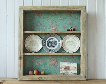 Shelf/ Wall Shelf/ Wood Shelf/ Rustic Style Shelf/ / Shelf for Plates/ Wall Shelf  Wood/ Shelf for Collection/ Wall Hanging