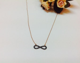 Infinity silver necklace,infinity necklace,layered necklace,infinity jewelry,gift for her