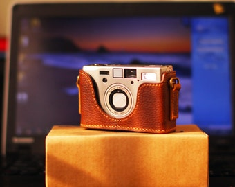 For Contax T3 Leather Cameras Case, T3 Camera Case, Handmade Leather Camera Protector, Contax T3 Case Leather