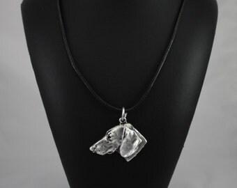 Teckel (no coat), Dachshund smoothhaired, dog necklace, limited edition, ArtDog
