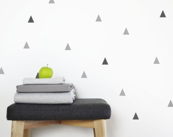 triangle wall decals – gray