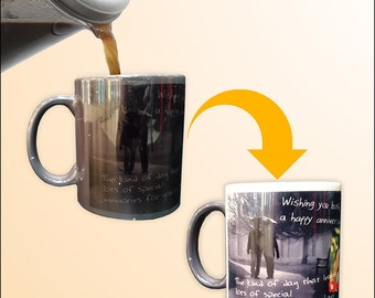 11oz custom printable mugs that reveals photographs only when hot Magical Mug by BannerBuzz