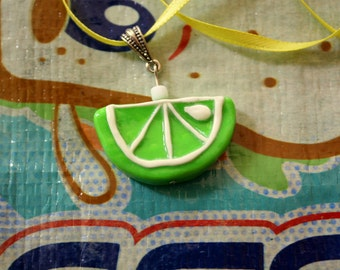 Slice o' Lime Necklace