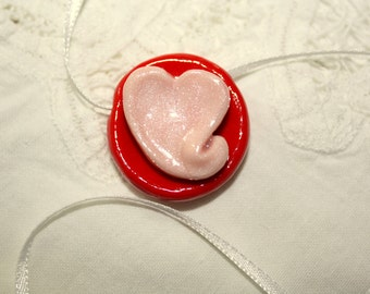 Sweet Pink Heart Necklace