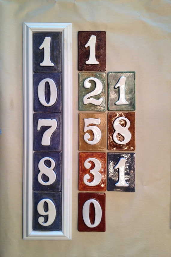 house number tile plaque 5 number style pvc and. Black Bedroom Furniture Sets. Home Design Ideas