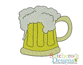 Beer Stein -In Hoop sizes 2x2, 3x3, 4x4- Instant Download - for Embroidery Machines