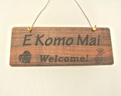 Hawaiian Koa Wood Signs