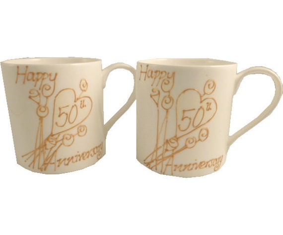 50th Golden Wedding Anniversary Gifts: PERSONALISED 50th Golden Wedding Anniversary Gift By
