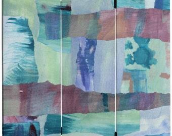 5 ft. Tall Ocean Dance Canvas Room Divider