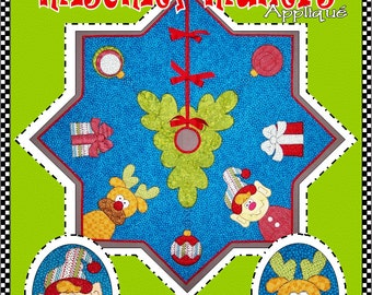 The Merry Mischief-Makers Appliqué Tree Skirt Digital Pattern (#108) - Instant Download