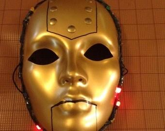 OOAK mask - Light Up Robot