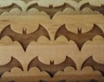 BATMAN Engraved Wood Rolling Pin
