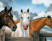 """Horses """"Three for the Road"""""""