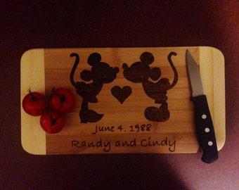 Mickey and Minnie Wedding Cutting Board