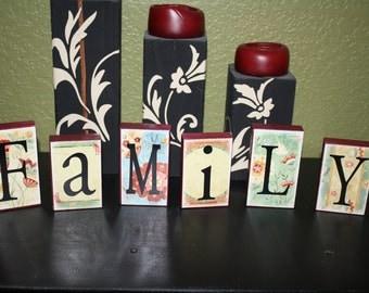 FAMILY Block Set- Floral Pattern