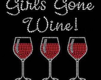 Girls gone wine Rhinestone Shirt - Wine
