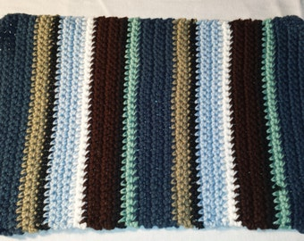 Contemporary crocheted placemat