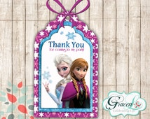 Frozen Gift Tags, Frozen Favor Tags, Frozen Birthday Decorations, Frozen Party Supplies