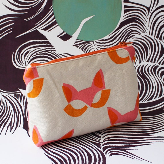 Cat mask small pouch
