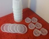 vintage Tupperware individual jello mold cups / set of six