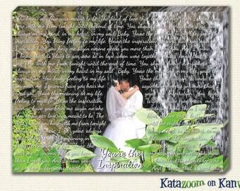 Wedding Canvas With Lyrics - Wedding Canvas Art