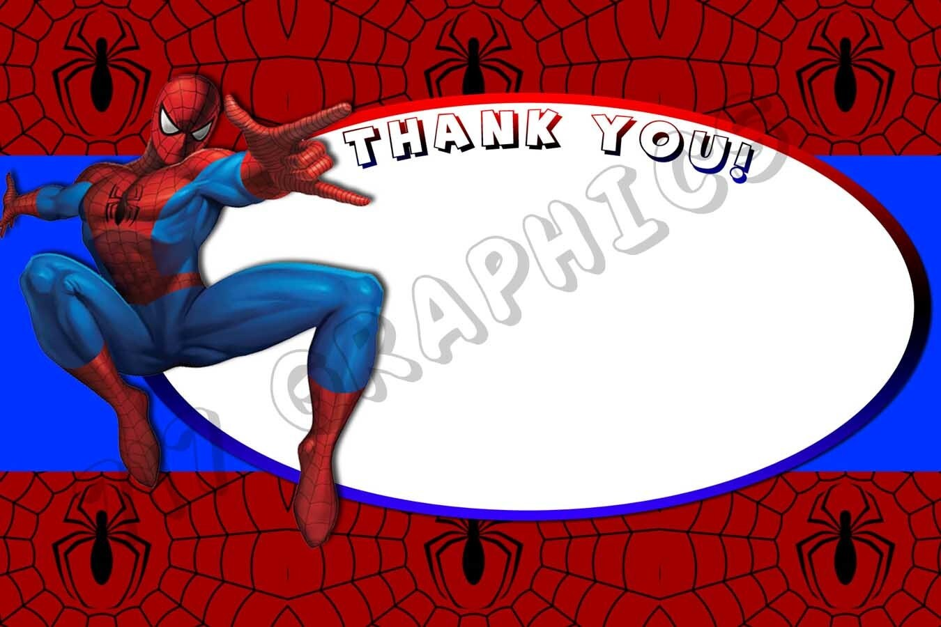Printable Spider Man Birthday Invitation Orderecigsjuiceinfo - 4x6 thank you card template