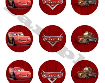 Cars Cupcake Toppers DIY Instant Download