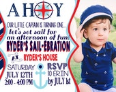 Nautical 1st Birthday Invitation