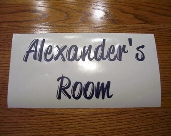 Room sign vinyl decal;Name decal, Nursery sign
