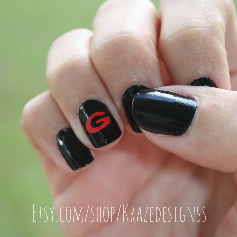 Nail design vinyls beautify themselves with sweet nails 20 georgia bulldogs vinyl nail art georgia nail art uga prinsesfo Gallery