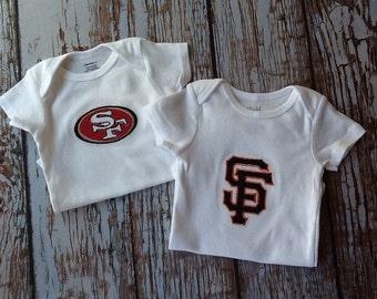 San Francisco sports team custom embroidered shirt