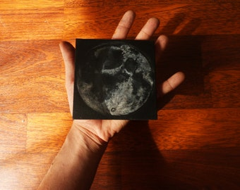 Birth Moon Painting Moon Phase Painting Hecate