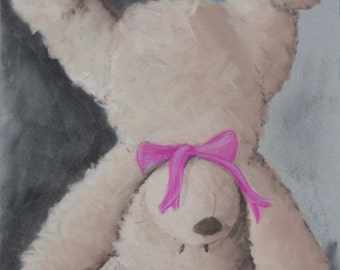 Teddy Bear pastel (chalk) painting.