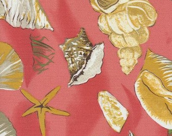 Sea Shell Coral Indoor Outdoor Fabric