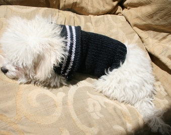 Navy Blue Dog Sweater | DOG Clothes | Pet Clothing | BubaDog Sweaters