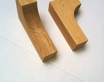 oak corbel pair for mantlepiece, decorative or shelf bracket support.