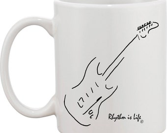 Electric Guitar Coffee Mug - Fender Stratocaster
