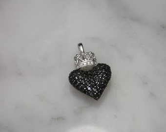 Heart with crown pendant necklace Swarovski Charms Silver Angel romance ring 925 Tattoo