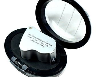 Illuminated 30X - 60X Jewelers Loupe Lighted Magnifier