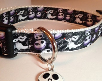 Jack Skellington Nightmare Before Christmas Adjustable Dog Collar