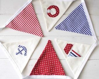 Nautical Style Bunting - Nursery Bunting - New England Nursery Bunting - Nautical Bunting