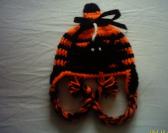 photo prop baby hat, halloween baby hat, beanie boy hat, newborn beanie hat, halloween boy hat, baby boy hat, halloween spider hat,