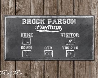 Sports Scoreboard Banner, Football Party Decor, Baseball Party Banner, Digital File
