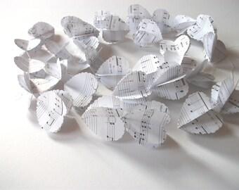 Music heart 3d paper garland, party, wedding , home decor.  photo back drop