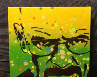Breaking Bad Walter White stencil painting